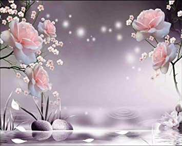 Amazon Com Beibehang Custom Wallpaper Hd Beautiful Rose Tv