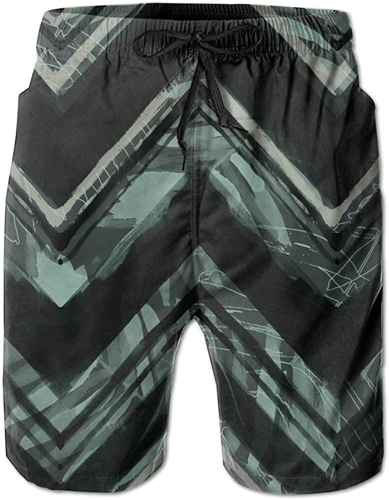 Geometric Abstract Sci Fi Summer Casual Style Adjustable Beach Home Sport Shorts