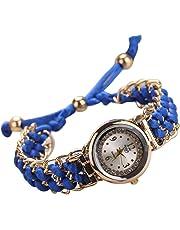 Coconano Reloj Hibrido Mujer, Mujeres Cuerda de Tejer Cuerda de Cuerda Analógico Movimiento de Cuarzo