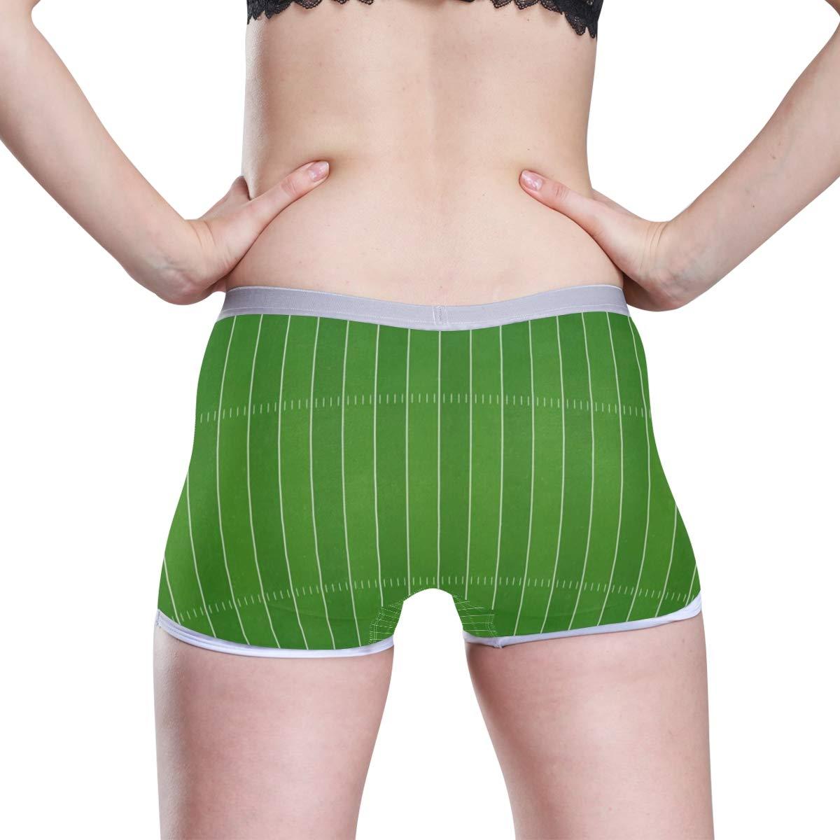 HangWang American Football Field Boyshort Panties Womens Breathable Boyshort Hipster Panty Underwear