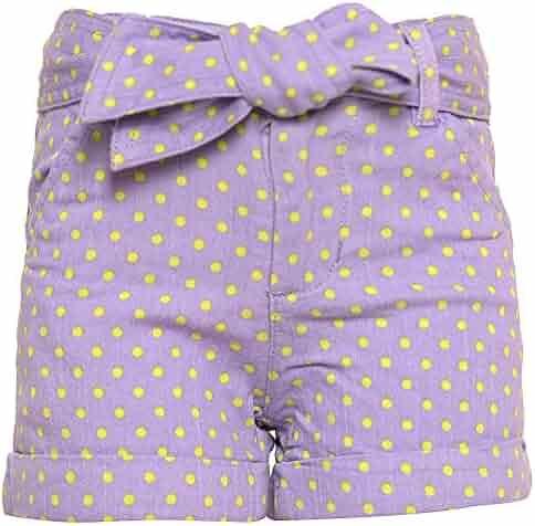90d734e389b seller  SophiasStyle. (0). Ko Ko Ailis Little Girls Purple Yellow Polka  Dotted Pattern Tie Bow Waist Shorts 4