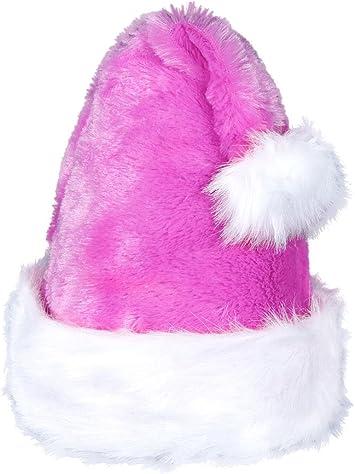 Weihnachtsmütze Nikolausmütze Luxus Plüsch Weihnachtsmannmütze in rosa wm-92 NEU