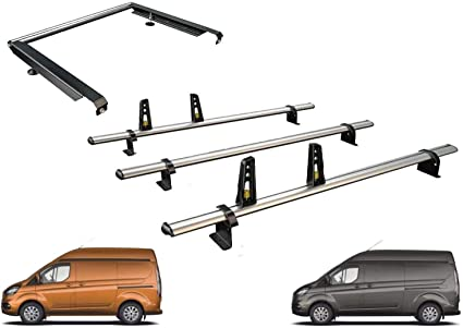 Van Guard Ulti Bar 3 Barras portaequipajes y Kit de Rodillo de Escalera Trasera para Ford Transit Custom [Techo Alto]: Amazon.es: Coche y moto