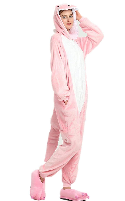 Kenmont Unicornio Juguetes y Juegos Animal Ropa de Dormir Cosplay Disfraces Pijamas para Adulto Niños (Large, Pink Dinosaurs): Amazon.es: Juguetes y juegos