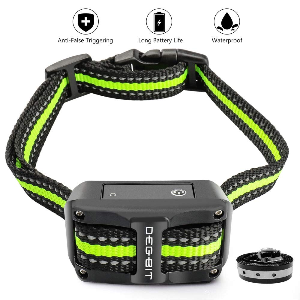 DB DEGBIT Bark Collar No False Triggering Long Battery Life , Dog Bark Collar with 3 Modes 1-5 Sensitivity Levels, Rechargeable Anti Stop Barking Bark Control Shock Collar for Small Medium Large Dog