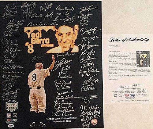 Yankees Stadium Final Game Yogi Berra Signed 16x20 Photo 56 AUTO'S PSA LOA