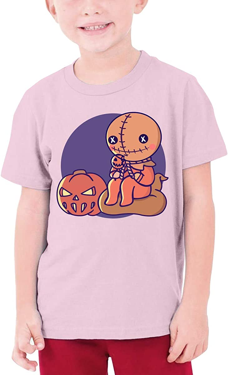 Youth Graphic Tshirts Teenage Boys Girls Short Sleeve T-Shirt Trick r-Treat Printed Round Collar T Shirt Tees Tops