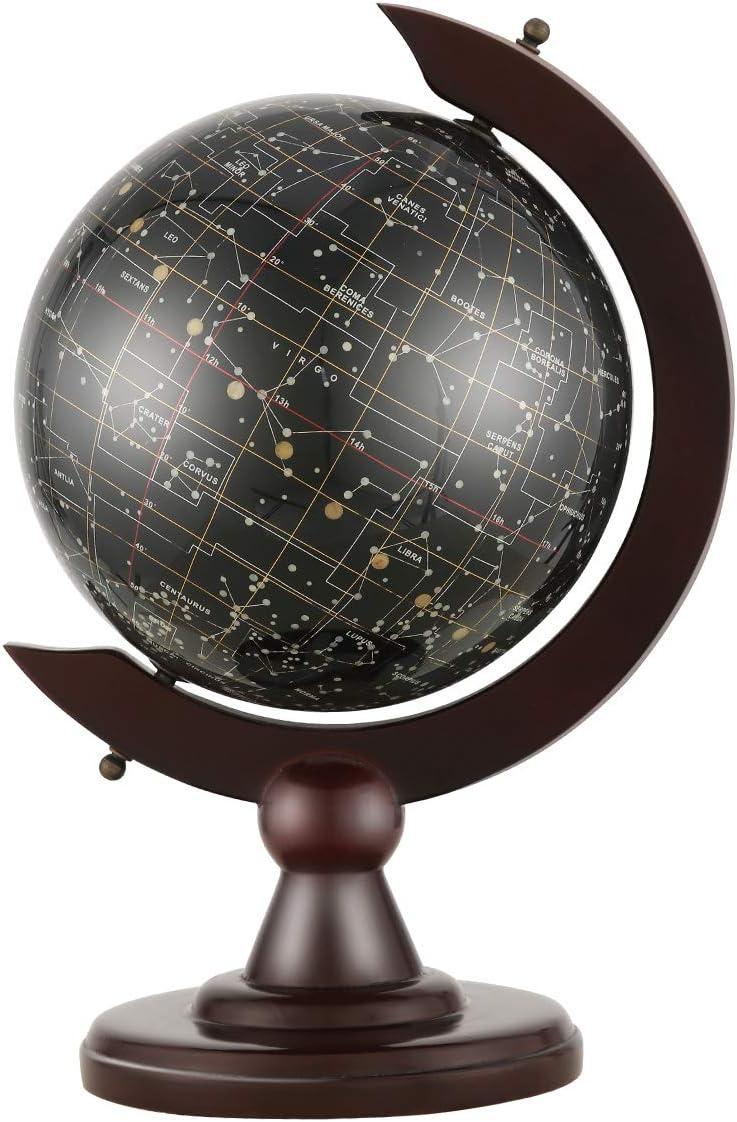 VIDAR Cartography Illuminated World Globe Desktop LED Star Constellation Globe /& Nightlight with Steel Stand,Exploration Earth Globe for Kids