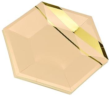 FiveSeasonStuff 24pcs Plato de papel desechable para fiestas de cumpleaños, barbacoas, fiestas de baile