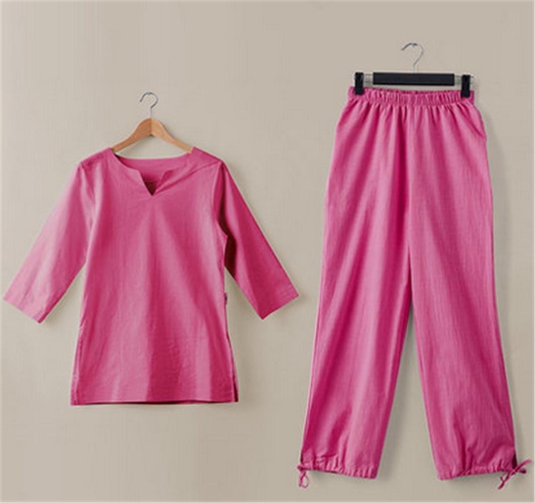 rouge L peiwen Costumes de vêteHommests de Yoga Coton, vêteHommests Zen