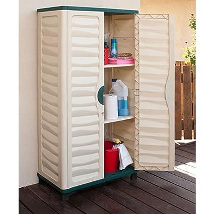 Al aire libre plástico de almacenamiento armario caseta de jardín garaje casa patio herramientas nuevo: Amazon.es: Jardín