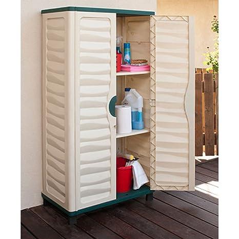 Al aire libre plástico de almacenamiento armario caseta de jardín garaje casa patio herramientas nuevo