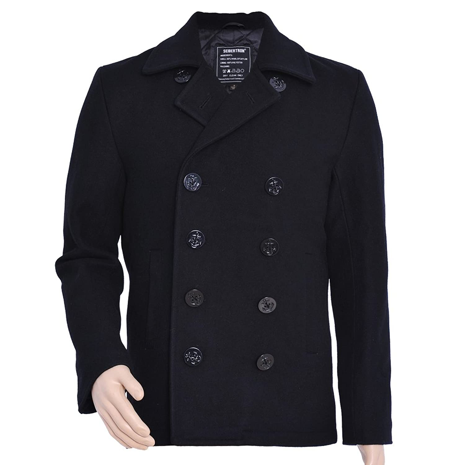 Images of Us Navy Pea Coat - Reikian