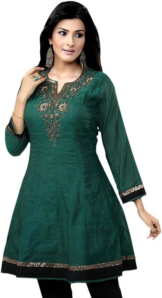 Jayayamala Fashion Sleeve Less Black Cotton Tunic Top Ladies Designer Tops