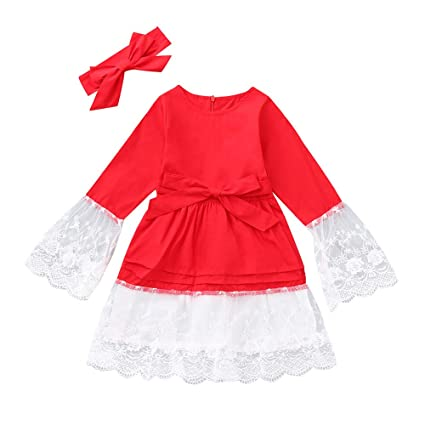 iuhan baby girls dress christmas for 1 4years kids clearance toddler kids baby girl - 12 Month Christmas Dress