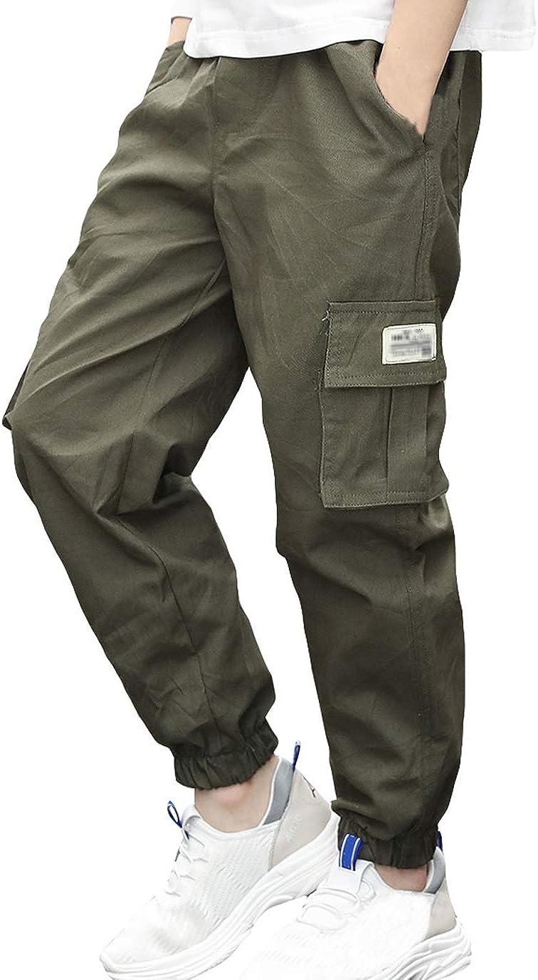 LAUSONS Pantaloni Jogging Cargo Ragazzo Pantaloni con Elastico alla Caviglia Bambino
