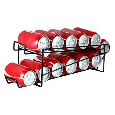 Hopeful by Long-Lived Stylish Sturdy Steel Can Beverage Dispenser Rack Organizer, Black (Dispenser)