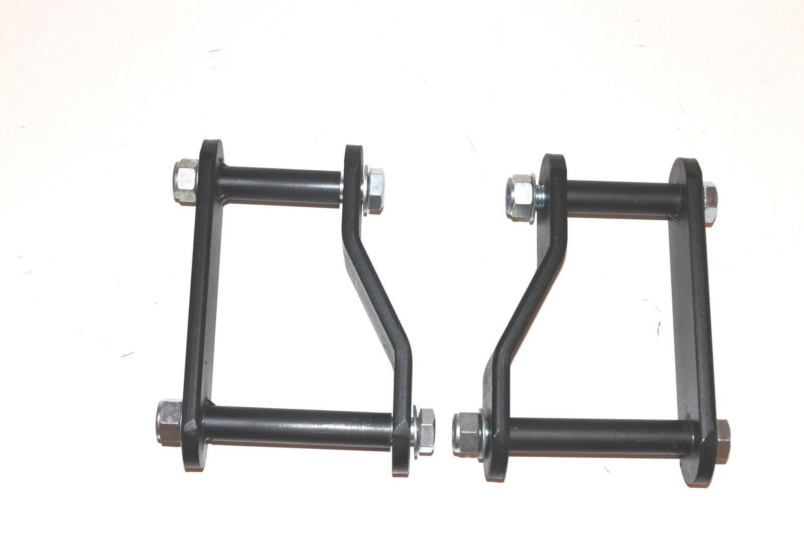 4 Rear Hanger /& Shackle Kit V8 Motor 2WD Fits Ford F150 Pickup Lowering Kit 2 Front Lowering Drop Coil Springs RTZ