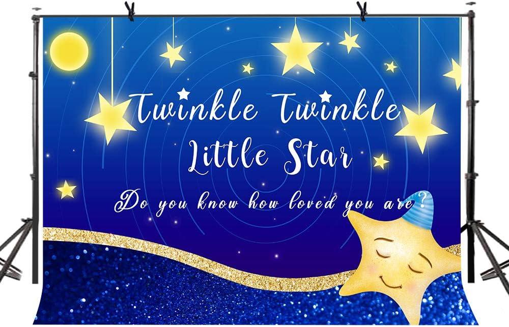 LYLYCTY 7x5ft Twinkle Twinkle Little Star Baby Shower Loving Newborn Portrait Background Little Gentleman Photographic Studio Props LYZY0544