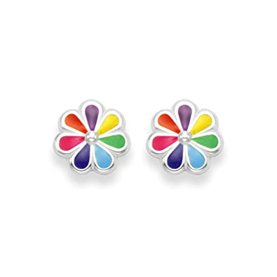 colourful women item helix piercing fashion stud earrings cartilage tragus earring upper bar