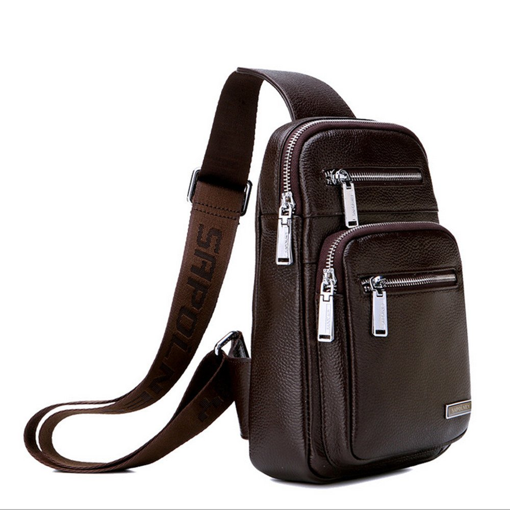 Business Briefcase Mens Leather Shoulder Bags