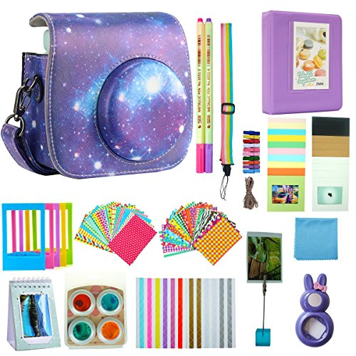 Anter 17 in 1 Instax Mini 9 Accessories fit to Fujifilm Instax Instant Film Camera – Starry Sky