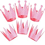 Pink King Princess Queen Birthday Crown Party Hats