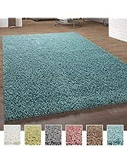 Shaggy-Vloerkleed Hoogpolig Vloerkleden Hoogwaardig Pastel Uni Diverse Kleuren, Maat:70x140 cm, Kleur:Turquoise