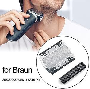 AITOCO Cortadoras de láminas de Repuesto para máquinas de Afeitar Braun 350 355 370 375 5614 5615 P10 Blade Mesh ...