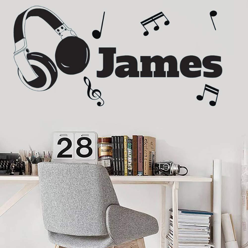 Nombre de auriculares personalizados Vinilo Etiqueta de la pared ...