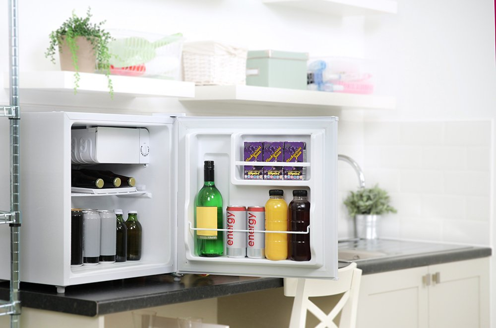 capacit/á 40 litri RHTTLF1-EU Bianca Russell Hobbs Frigorifero Frigo bar Classe A+ con scomparto ghiaccio freezer