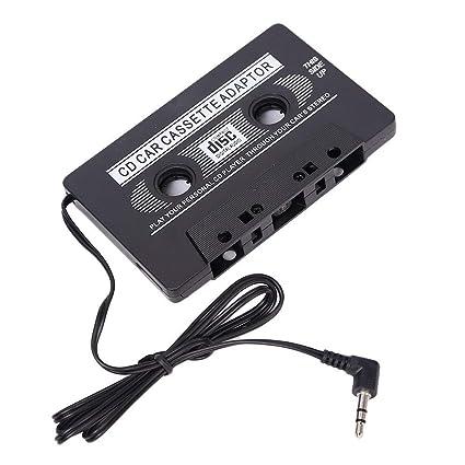 Nuevo Adaptador de cassette para coche digital CD Reproductor de radio MP3 negro para regalo de