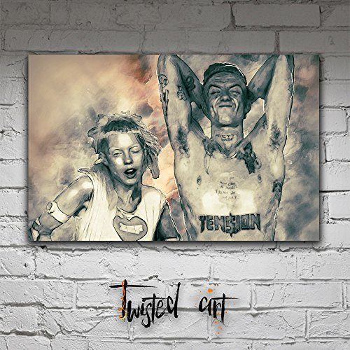 Die-Antwoord-Yolandi-Ninja-Music-Modern-Abstract-Box-Framed-Canvas-Art-Print