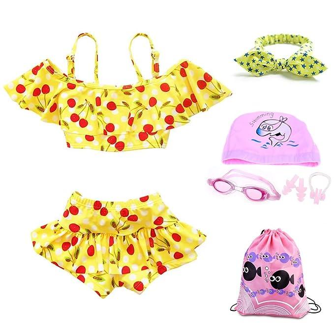 84abb9e87793 RETON 2 Piezas Tankini Traje de baño Traje de baño Bikini Cereza ...