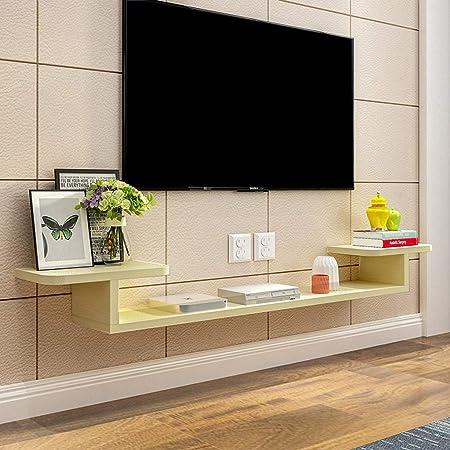 Estante flotante de pared Soporte para televisor montado en la pared Gabinete de TV Consola de