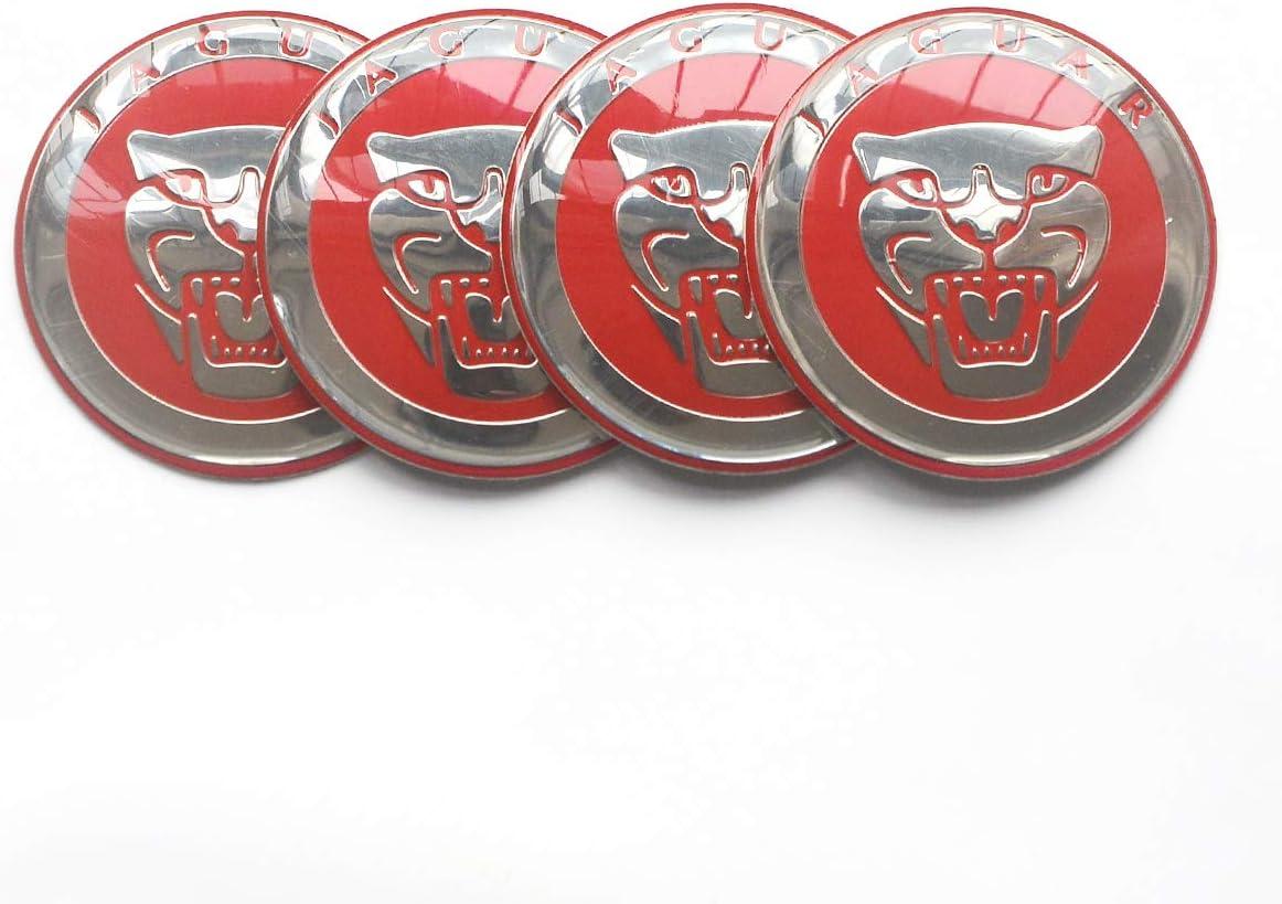 Wheel Center Hub Cap Stickers-4PCS 56.5MM 2.22 Auto Car Styling Accessories Emblem Badge Decal Cover fit for Jaguar XF XJ XJS XK S-Type X-Type