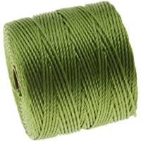 Beadsmith Super-Lon Cord Size No.18 Twisted Nylon Spool, 77-Yard, Avocado