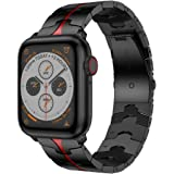 RABUZI Compatible for Apple Watch Band 44mm/42mm,Enamel Process Stainless Steel Metal Watch Replacement Bands Compatible for