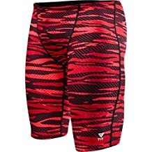 TYR Sport Men's Crypsis Jammer Swimsuit, Red, 32 Size