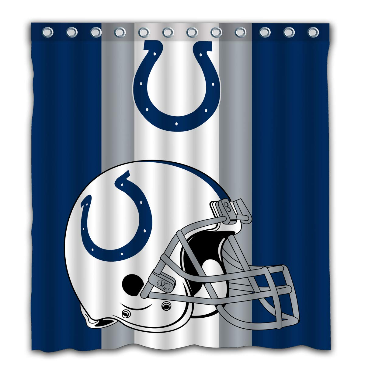 Amazon Potteroy Indianapolis Colts Team Simple Design Shower Curtain Waterproof Mildew Proof Polyester Fabric 66x72 Inches Home Kitchen