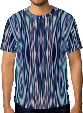 LINPM Camiseta Informal con Estampado de Hombre, Adorno de ...