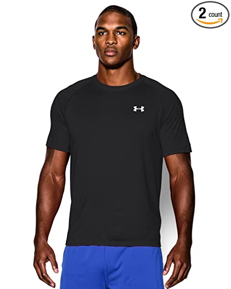 f53347f5 Amazon.com: Under Armour Men's UA Tech Short Sleeve T-Shirt, Black ...
