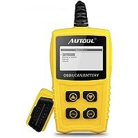 OBDII OBD2 Diagnosegerät Auto KFZ, AUTOOL 16Pin Fehler Auslesen Auto Motor mit Batterietester, OBD2 Fehlercodeleser Scanner für Lesen und Löschen Fehlercode
