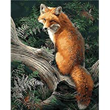 No Frame Fox Animals Diy Painting By Numbers Kits Paint On Canvas Acrylic Coloring Painitng By Numbers For Home Wall Decor 40X50