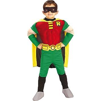 Disfraz infantil Robin M 5-6 años disfraz Batman super héroe ...