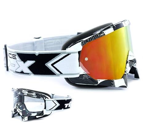 TWO-X Race Crossbrille MX Enduro Brille Motocross iridium verspiegelt Graphic