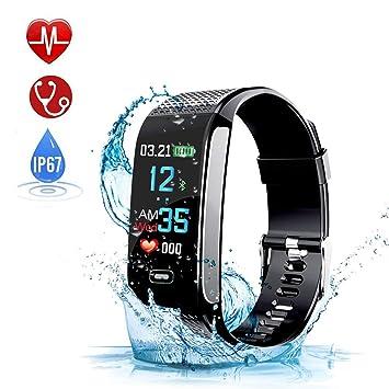 WONSUN Montre Connectée, Montre Cardio Bracelet Connectée Sport Podometre avec GPS, Etanche IP67 Fitness