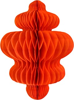 product image for 3-Pack 10 Inch Honeycomb Tissue Paper Hanging Chandelier Decoration (Orange)