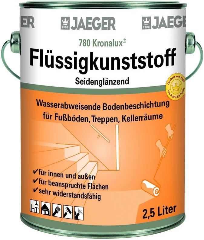Jaeger Kronalux líquido de plástico gris y 780 RAL7032 2, 5L revestimiento de suelo