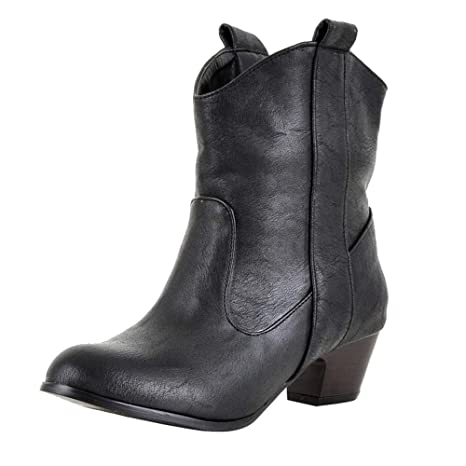 9b385ed5dd6 Image Unavailable. Image not available for. Color  Teresamoon Fashion Women  High Heel Shoe Leather Boots Women Thick with Ankle Boots